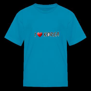 I LOVE KOREA  txt s.korea flag art Children's T-Shirt
