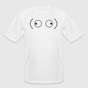crazy googly eyes looking outwards T-Shirts - Men's Tall T-Shirt
