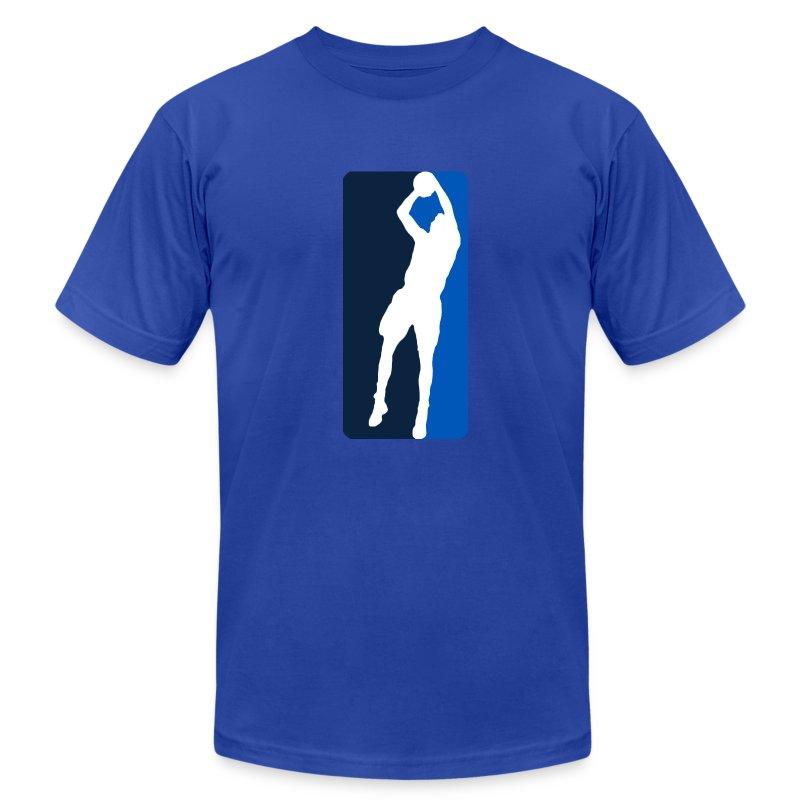 GBO Dirk Logo - Blue - Men's Fine Jersey T-Shirt