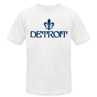 T-Shirts ~ Men's T-Shirt by American Apparel ~ Fleur De Lis Detroit Men's American Apparel T-Shirt