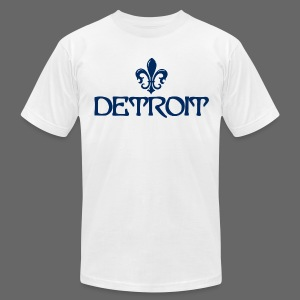 Fleur De Lis Detroit Men's American Apparel T-Shirt - Men's T-Shirt by American Apparel