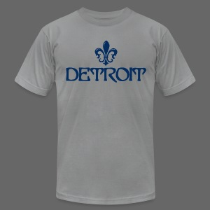 Fleur De Lis Detroit Men's American Apparel T-Shirt - Men's Fine Jersey T-Shirt
