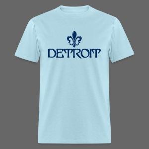 Fleur De Lis Detroit Men's Standard Weight T-Shirt - Men's T-Shirt