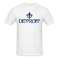 T-Shirts ~ Men's T-Shirt ~ Fleur De Lis Detroit Men's Standard Weight T-Shirt