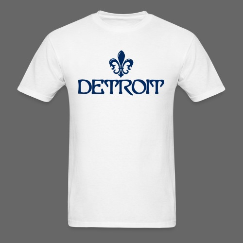 Fleur De Lis Detroit Men's Standard Weight T-Shirt - Men's T-Shirt