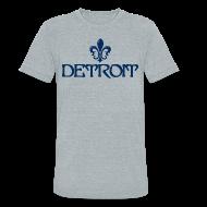 T-Shirts ~ Unisex Tri-Blend T-Shirt ~ Fleur De Lis Detroit Men's Tri-Blend Vintage T-Shirt