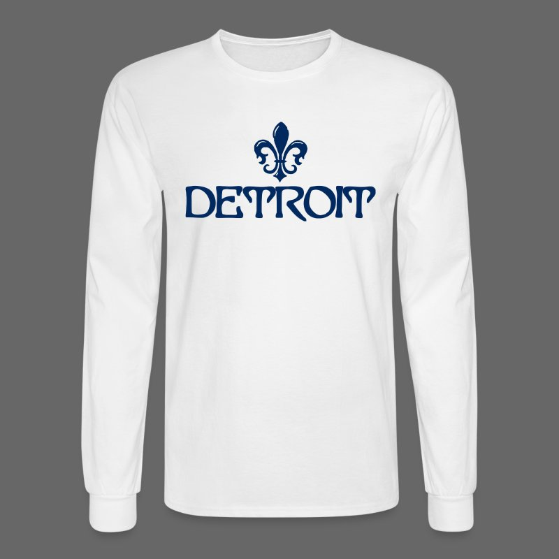 Fleur De Lis Detroit Men's Long Sleeve T-Shirt - Men's Long Sleeve T-Shirt