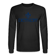 Long Sleeve Shirts ~ Men's Long Sleeve T-Shirt ~ Fleur De Lis Detroit Men's Long Sleeve T-Shirt