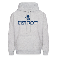 Hoodies ~ Men's Hoodie ~ Fleur De Lis Detroit Men's Hooded Sweatshirt
