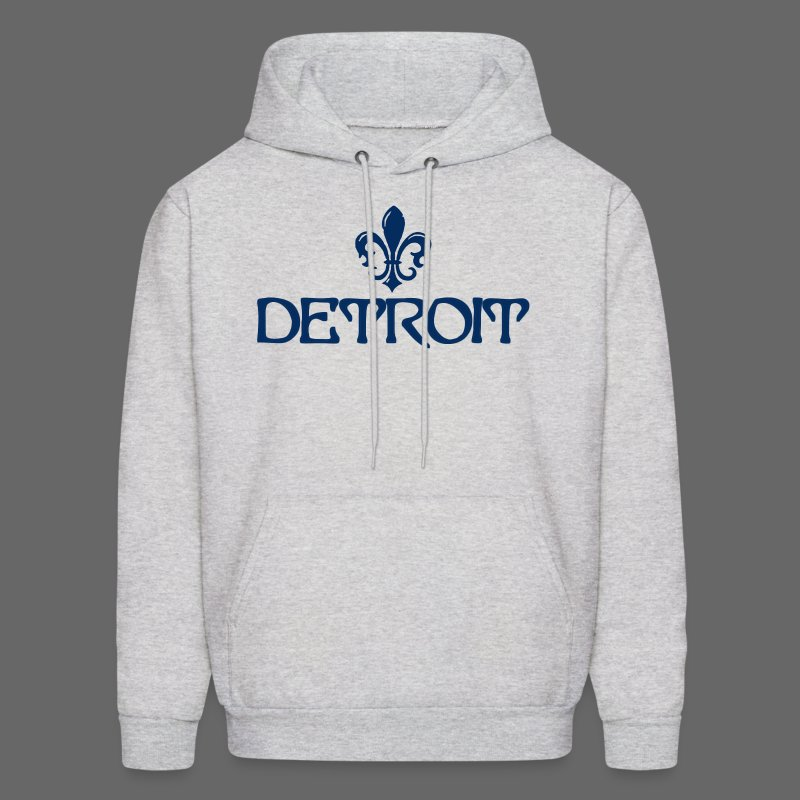 Fleur De Lis Detroit Men's Hooded Sweatshirt - Men's Hoodie