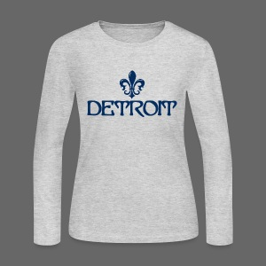 Fleur De Lis Detroit Women's Long Sleeve Jersey T-Shirt - Women's Long Sleeve Jersey T-Shirt