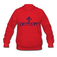 Hoodies ~ Women's Hoodie ~ Fleur De Lis Detroit Women's Hooded Sweatshirt