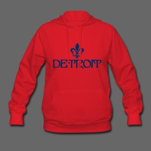 Fleur De Lis Detroit Women's Hooded Sweatshirt - Women's Hoodie