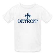 Kids' Shirts ~ Kids' T-Shirt ~ Fleur De Lis Detroit Children's T-Shirt