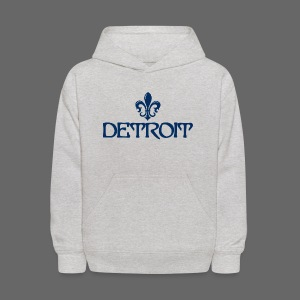Fleur De Lis Detroit Kid's Hooded Sweatshirt - Kids' Hoodie