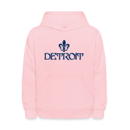 Sweatshirts ~ Kids' Hoodie ~ Fleur De Lis Detroit Kid's Hooded Sweatshirt