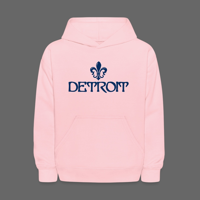 Fleur De Lis Detroit Kid's Hooded Sweatshirt - Kids' Hoodie