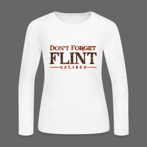 Don't Forget Flint Women's Long Sleeve Jersey T-Shirt - Women's Long Sleeve Jersey T-Shirt