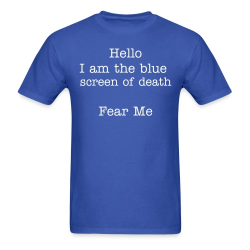 Blue Screen - Men's T-Shirt