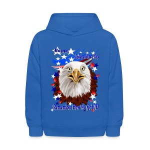 Grand Ol' Eagle-Independence Day - Kids' Hoodie