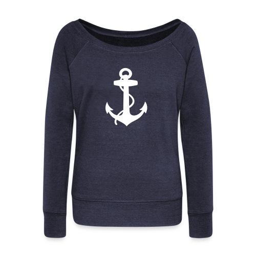 Women's Wideneck Sweatshirt - summer,sailing,riparian,nautical,casual,boat,beach