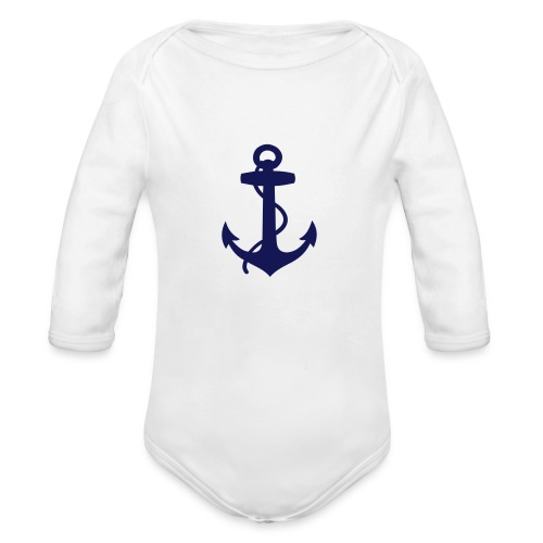 Organic Long Sleeve Baby Bodysuit - summer,sailing,riparian,nautical,casual,boat,beach