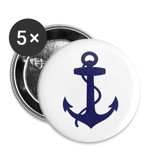 Buttons large 2.2'' (5-pack) - summer,sailing,riparian,nautical,casual,boat,beach