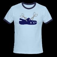 T-Shirts ~ Men's Ringer T-Shirt ~ New Scissor Croc Ringer Tee