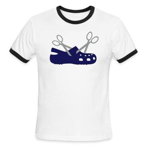 New Scissor Croc Ringer Tee - Men's Ringer T-Shirt