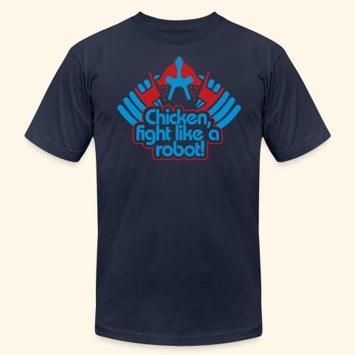 Chicken, fight like a robot! - Men's Fine Jersey T-Shirt