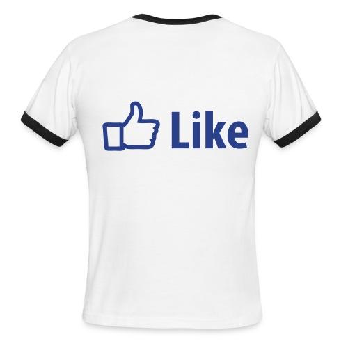 Like- Facebook - Men's Ringer T-Shirt