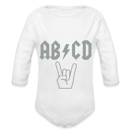 AB-CD (ACDC) Baby Outfit - Organic Long Sleeve Baby Bodysuit