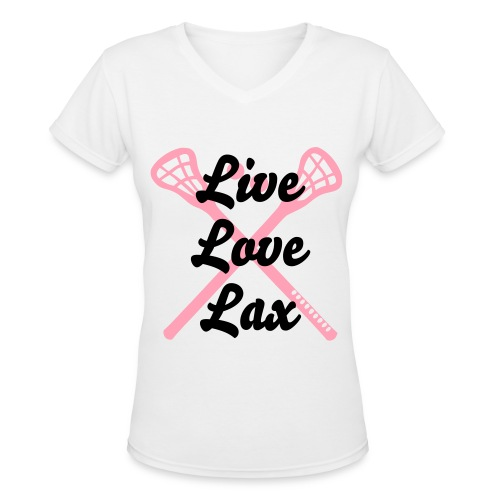 Womens Lax Tshirt - Women's V-Neck T-Shirt