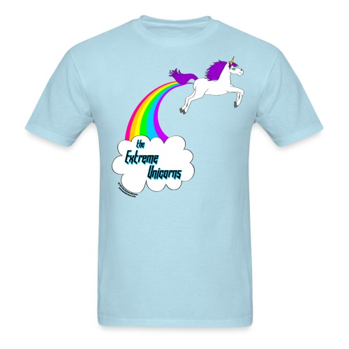 Men's rainbow farting unicorn tee - Men's T-Shirt