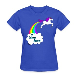 Women's rainbow farting unicorn tee - Women's T-Shirt