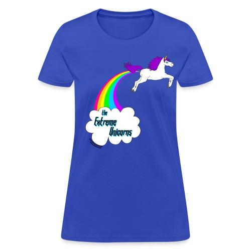 Women's rainbow farting unicorn tee - Women's T-Shirt