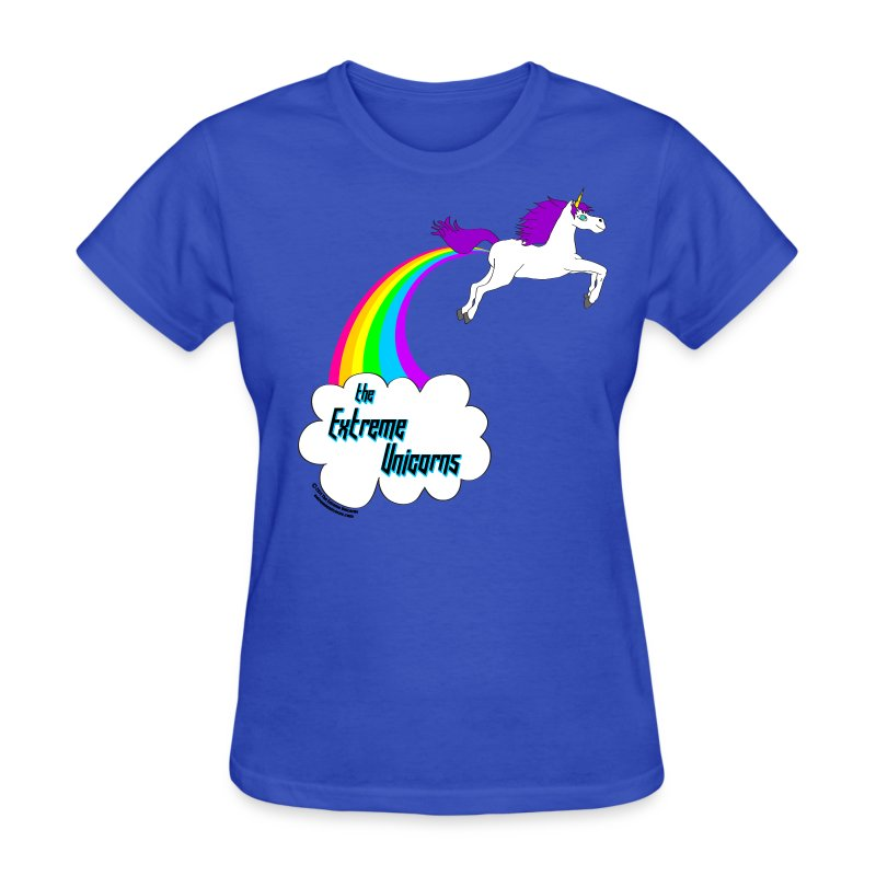 Women's rainbow farting unicorn tee T-Shirt | The Extreme ...