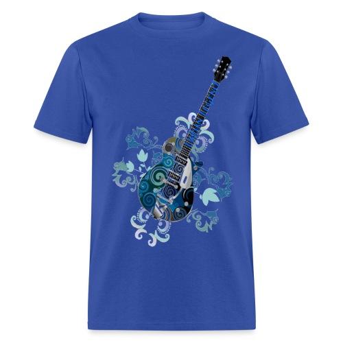 Urban Legend Grunge Guitar with Logo on Neck of Guitar - Men's T-Shirt