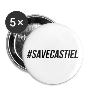 Save Castiel (hashtag) - Large Buttons