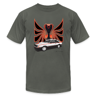 T-Shirts ~ Men's T-Shirt by American Apparel ~ 1980 Mustang Cobra - Polar White - FRONT