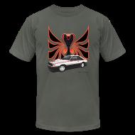 T-Shirts ~ Men's T-Shirt by American Apparel ~ 1980 Mustang Cobra - Polar White - FRONT