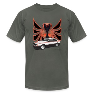 1980 Mustang Cobra - Polar White - FRONT - Men's T-Shirt by American Apparel