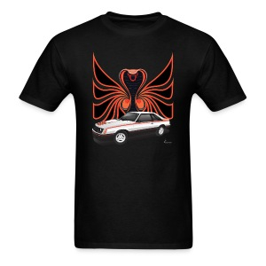 1980 Mustang Cobra - Polar White - FRONT - Men's T-Shirt