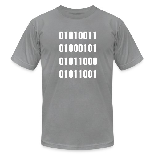 Men's  Jersey T-Shirt - SEXY in binary.