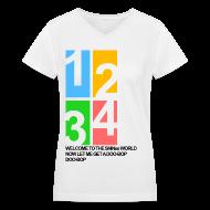 Women's T-Shirts ~ Women's V-Neck T-Shirt ~ [SHINee] Doo-Bop