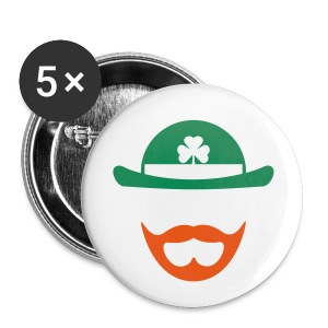 Green/Orange Beardchaun Button - Small Buttons