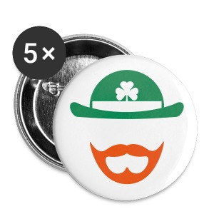 Green/Orange Beardchaun Button - Large Buttons