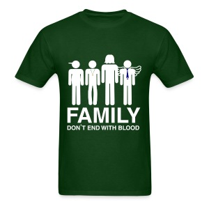 Family don't end with blood - Men's T-Shirt