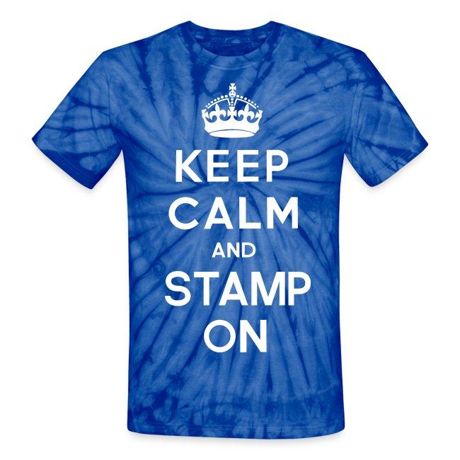 Keep Calm and Stamp On Tie Dye Tee