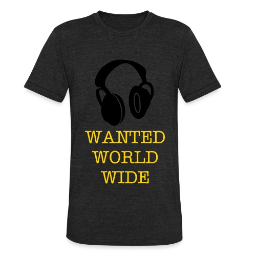 WANTED WORD WIDE - Unisex Tri-Blend T-Shirt